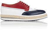 Prada Men's Colorblocked Leather Wingtip Platform Bluchers