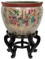 Oriental Furniture 12-Inch Porcelain Fishbowl