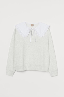 H&M H&M+ Collared Sweatshirt - Gray