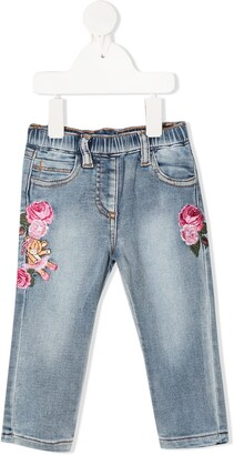 MonnaLisa Embroidered Slim Fit Jeans