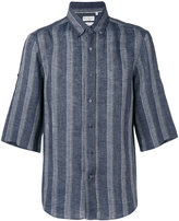 Brunello Cucinelli striped short sleeve shirt - men - Linen/Flax - L