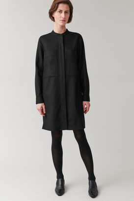 Cos Wool-Mix Shirt Dress With Pockets