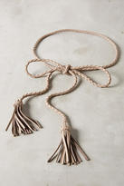 Anthropologie Leather Fringe Belt