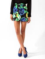 FOREVER 21 Floral Print Skater Skirt