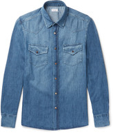 Brunello Cucinelli - Slim-fit Washed-denim Shirt