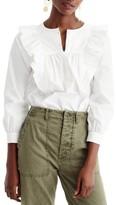 J.Crew Women's Ruffle Front Shirt