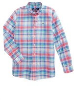 Vineyard Vines Boy's Bridgehampton Plaid Beach Whale Shirt