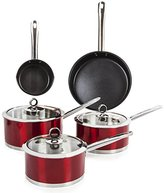Morphy Richards Accents Pan Set, 5 Piece - Red