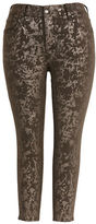 Melissa McCarthy Plus Pencil Foil Skinny Jeans