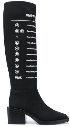 MM6 MAISON MARGIELA Slogan-Print Boots