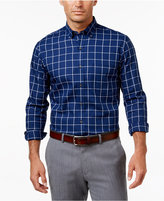 Club Room Men's Big and Tall Windowpane Long-Sleeve Shirt