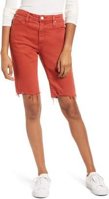 AG Jeans Chrissy Frayed Hem Bermuda Shorts