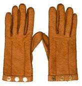 Hermes Clou de Selle Cashmere-Lined Pigskin Gloves