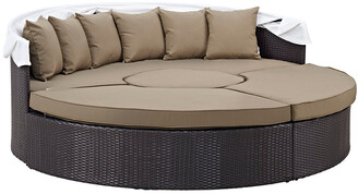 Modway Outdoor Modway Convene Canopy Outdoor Patio Wicker Rattan Daybed
