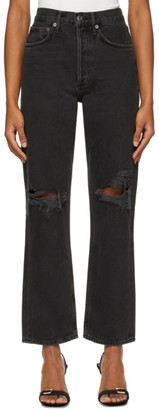 AGOLDE Black 90s Mid-Rise Loose Jeans