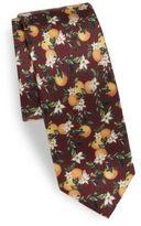Dolce & Gabbana Orange-Printed Silk Tie