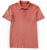 John Varvatos Cut And Sew Peace Sign Short-Sleeve Polo Shirt