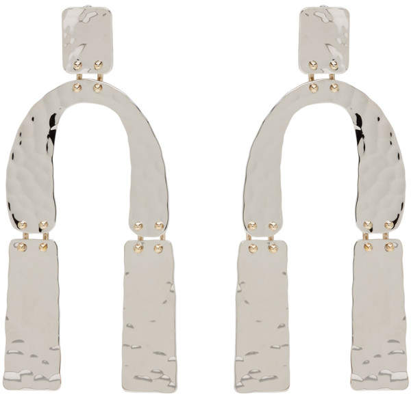 Proenza Schouler Silver Medium Hammered Earrings