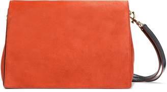 Diane von Furstenberg Tres Bonne Soiree Leather-paneled Suede Shoulder Bag