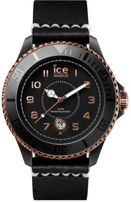 Ice Watch ICE-WATCH Unisex Analogue Quartz Watch with Leather Strap HE.BK.BZ.B.L.14