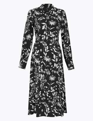 M&S CollectionMarks and Spencer Floral Shirt Midi Dress