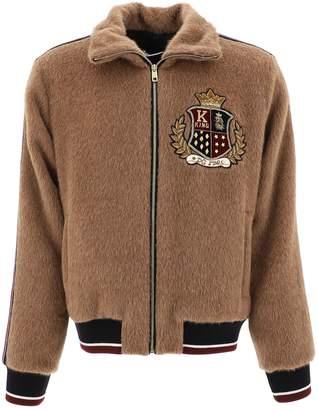 Dolce & Gabbana Logo Embroidered Zip-Up Jacket