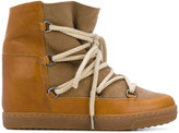 Isabel Marant wide ankle hi tops - women - Leather/rubber - 36