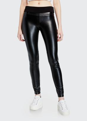 Blanc Noir London Faux-Leather Pull-On Pants