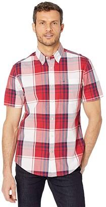 Tommy Hilfiger Rupert Plaid Custom Fit Woven (Chili Pepper) Men's Clothing