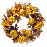 NATIONAL TREE CO National Tree Co. 30 Inch Pumpkin And Sunflowers Wreath