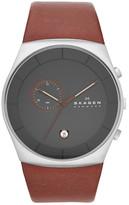 Skagen Men's Havenie Chronograph Leather Strap Watch