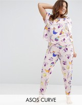 Asos Looney Tunes Print Tee & Legging Pajama Set