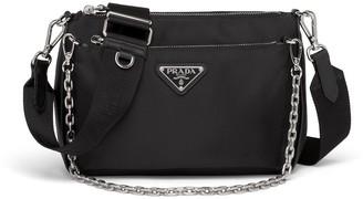 Prada Nylon Chain Link Shoulder Bag