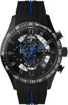Links Of London Skeleton Blue & Black Rubber Strap Chronograph Watch
