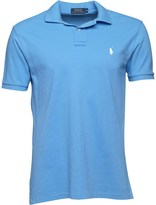 Polo Ralph Lauren Mens Custom Fit Weathered Mesh Polo Harbor Island Blue 009