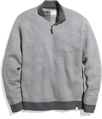 Marine Layer Myers Quarter Zip Sweater