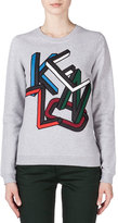 Kenzo Embroidered Sweatshirt, Pale Gray