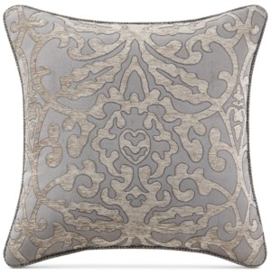 "Waterford Carrick Reversible 18"" Square Damask Decorative Pillow Bedding"