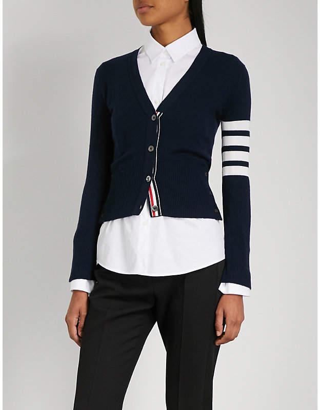 Thom Browne V-neck cashmere cardigan