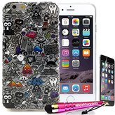 Fit [iPhone 6S Plus / iPhone 6 Plus], MerKuyom® Pack - (5.5-inch) [6/6S Plus] Case Protector, [Devil Ghosts][Slim-Fit] [Flexible Gel] Soft TPU Skin Cover For iPhone 6S Plus, iPhone 6Plus, + Stylus