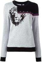 Versus embellished lion sweatshirt