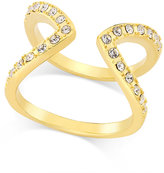 INC International Concepts Gold-Tone Pavé Crystal Open-Style Ring, Only at Macy's