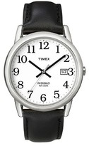 Timex Men's Easy Reader® Watch with Leather Strap - Silver/Black T2H281JT
