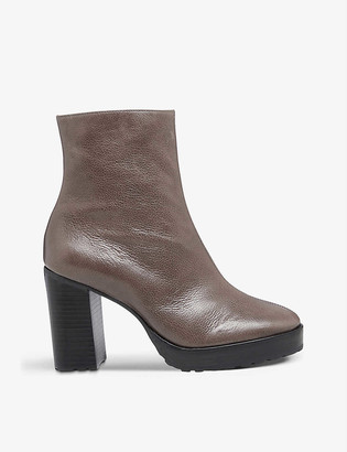 Bertie Proven heeled leather ankle boots