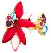 Oscar de la Renta Crystal Embellished Open Ring