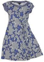 BCBGMAXAZRIA Blue Floral Print Dress