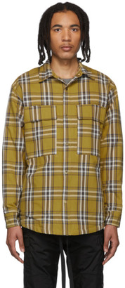 Fear Of God Yellow Flannel Plaid Shirt Jacket