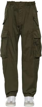 DSQUARED2 25.5cm Combat Cotton Canvas Cargo Pants