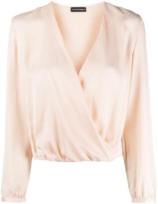 Emporio Armani Wrap Front Silk Blouse