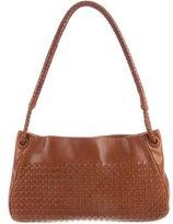 Bottega Veneta Intrecciato-Accented Leather Bag